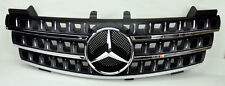 Mercedes ML Class W164 05-08 3 Fin Front Hood Sport Black Chrome Grill Grille