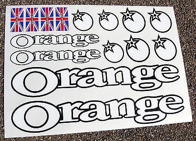 Begeistert Orange Mountain Bike (white) Mtb Cycle Frame Stickers