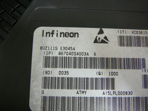 INFINEON BUZ111S Transistor MOSFET N-Channel 55V 80A 3-Pin TO-263 **NEW** Qty.1