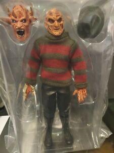 NECA Clothed retro Freddy Krueger nightmare on elm st loose figure