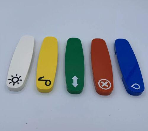 blau grün rot gelb weiß aus 10874 5 Codesteine 10875 LEGO Duplo Eisenbahn
