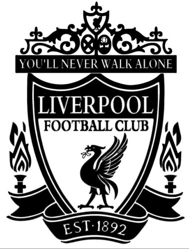 A4 A3  LFC Shield liverpool airbrush paint spray Reusuable stencil Premium mylar