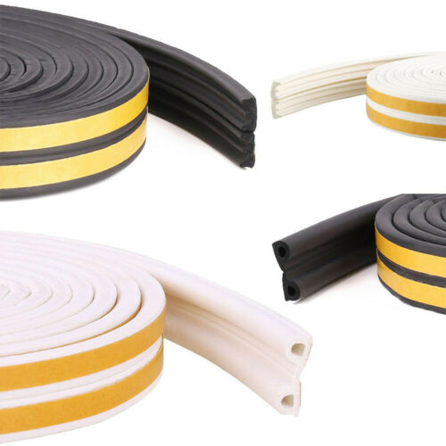Self Adhesive Foam Draught Excluder Window Door Seal Strip Soundproof Rubber New