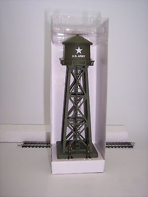 "HO US ARMY ""FLASHING""  WATER TOWER BY MODEL POWER # 632 US ARMY *NO BOX*"
