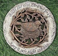 Roman 12 D bless Our Nest, Lord We Pray Bird Garden Stepping Stone 10206