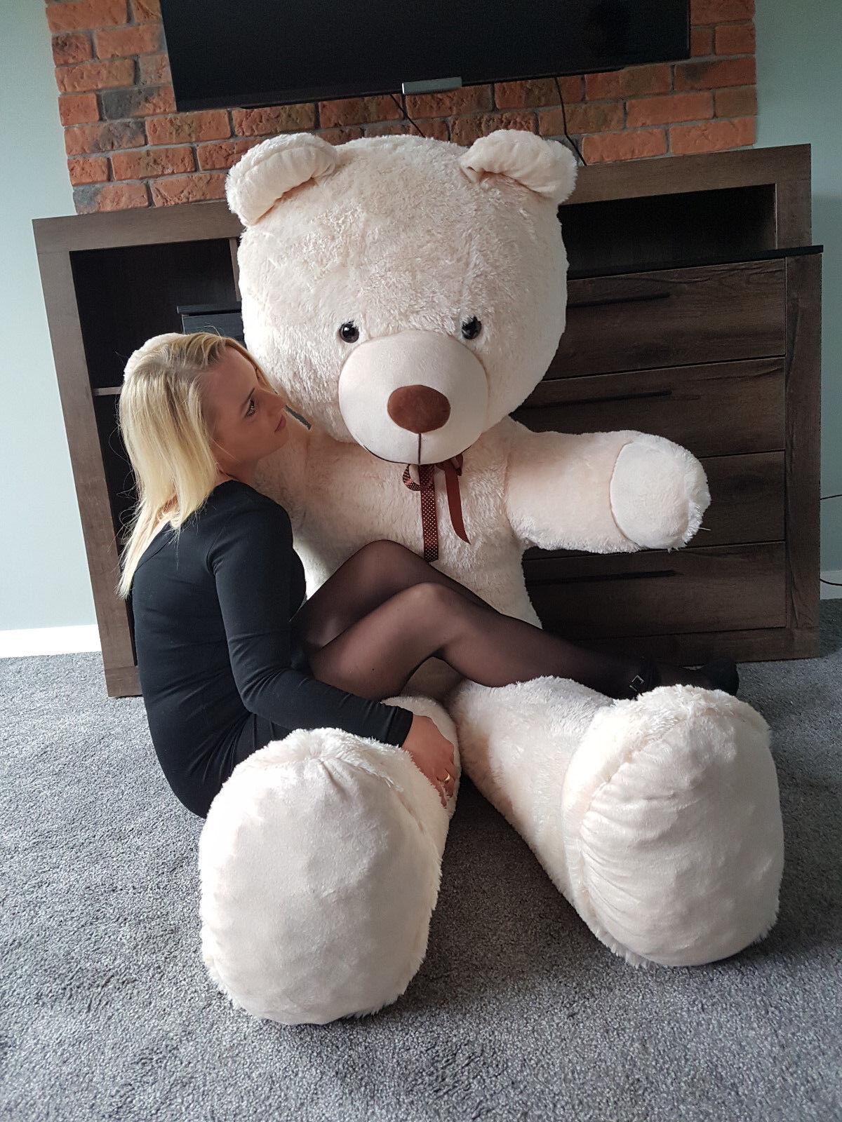 XXL Teddybär Plüsch Groß 205cm Kuschel Stoff bär Plüschbär Teddy