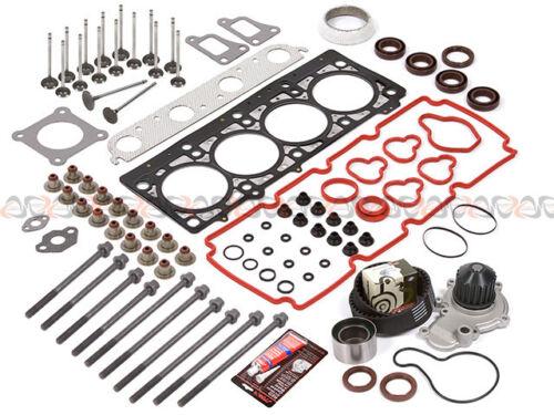 00-01 Dodge 2.0L Head Gasket Bolt Set Timing Belt Water Pump Kit+Engine Valves