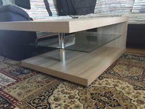 Couchtisch Wohnzimmer Tisch Mit Led Beleuchtung Top Zustandnur