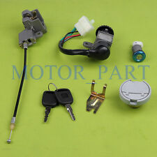 Key Ignition Switch Set  Locking Gas Cap FITS GY6 50cc Chinese Scooter Parts
