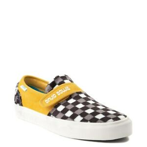 Details about NEW Vans x David Bowie Hunky Dory Slip On 47 V Skate Shoe Checkerboard DB