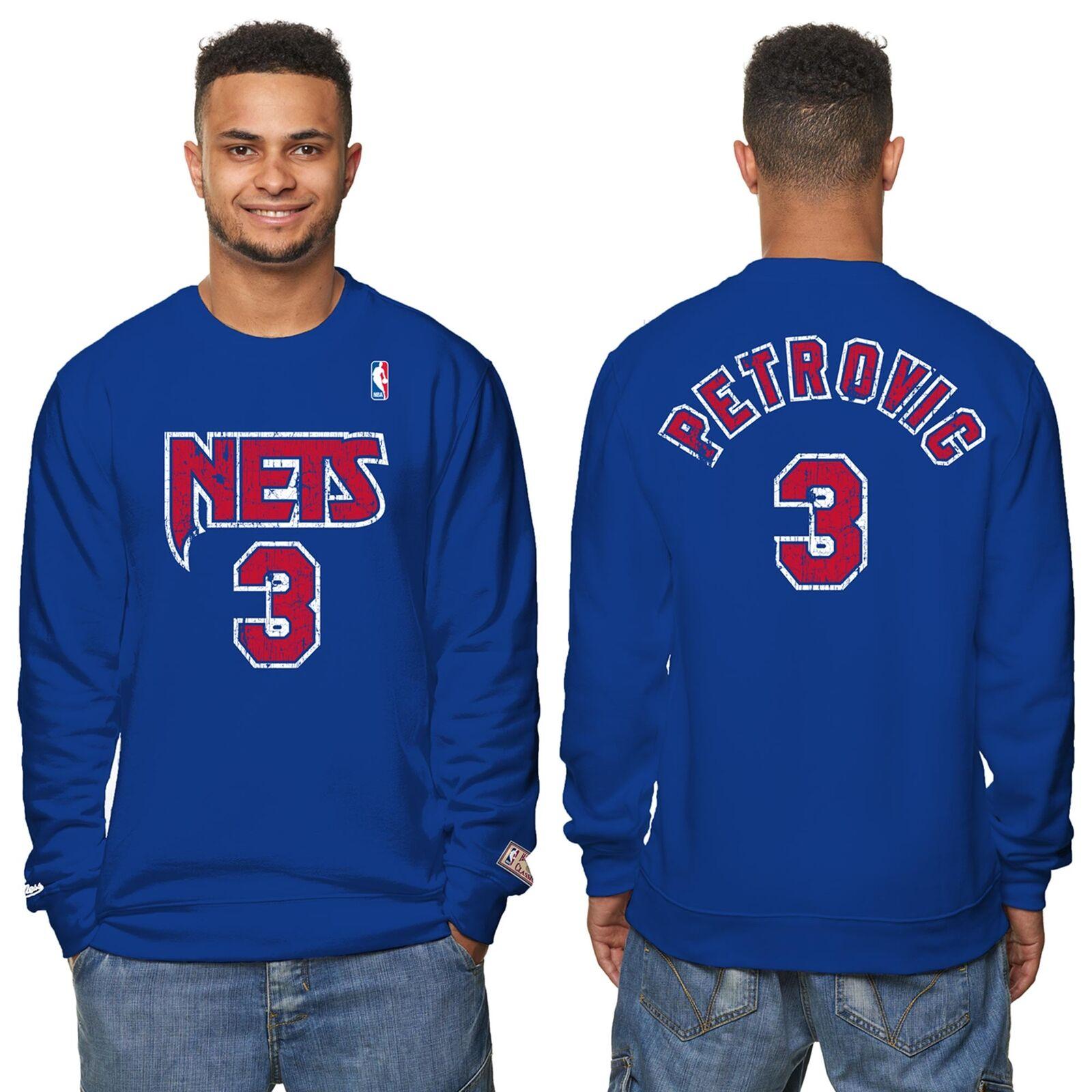 NBA NBA NBA New Jersey Nets Drazen Pettroviv Hardwood Sweatshirt Pulli Sweater Herren 0c0a3b