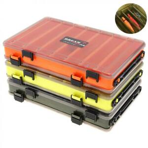 Tackle-Storage-Box-Fishing-Lure-Bait-Hook-Double-sided-Visible-Plastic-Clear-Box