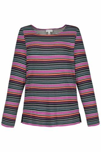 Gina Laura Shirt mit überlappter Schulter gestreift rot NEU