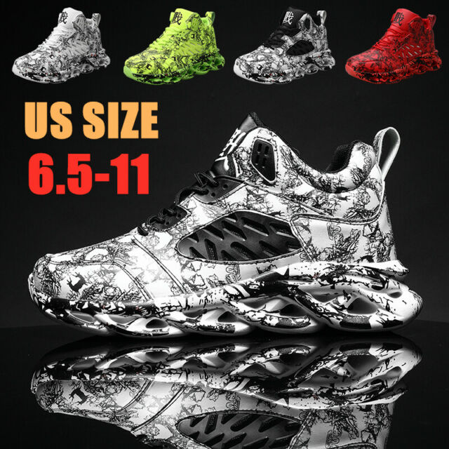 Mens Basketball Shoes Outdoor Sports Training Athletic Running Sneakers Casual N