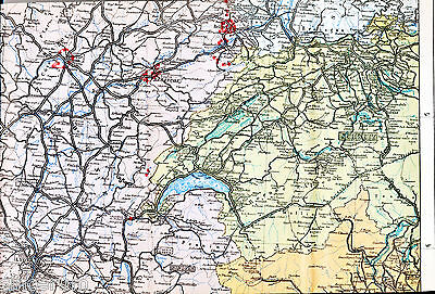 Besançon Dijon Belfort 1914 Teil-kriegskarte Forts Montbéliard Collonges Suisse SpäTester Style-Online-Verkauf Von 2019 50%
