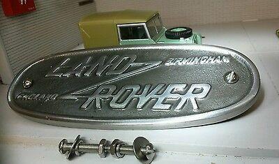 Land Rover Series 1 2 Cast Aluminium Grill OEM Tub Badge Birmingham 332670