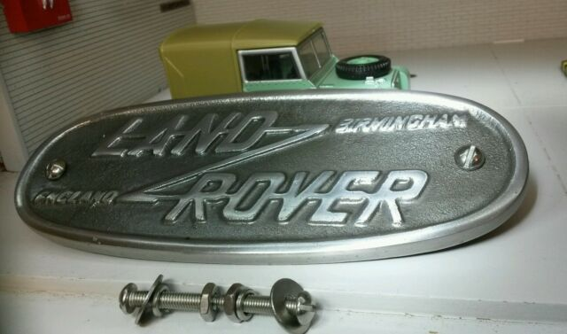 Di Alluminio Griglia/Mascherina Vaschetta Stemma Replica Birmingham Land Rover