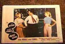 APRIL LOVE '57 LOBBY CARD #6 PAT BOONE SHIRLEY JONES