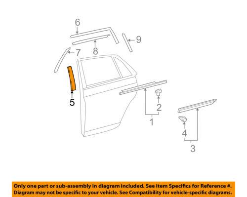 TOYOTA OEM 05-12 Avalon Exterior-Rear-Applique Window Trim Right 75761AC010