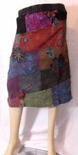 FAIR TRADE GRINGO HIPPY BOHO ETHNIC HIPPIE PATCHWORK SKIRT FROM NEPAL S/M