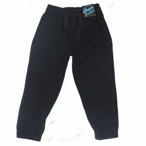 Garçons Uni Polaire Jogging Sport Survêtement Pantalon De Survêtement PE École Marine Noir