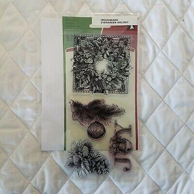 INKADINKADO EVERGREEN HOLIDAY Christmas Clear Stamps 60 ...