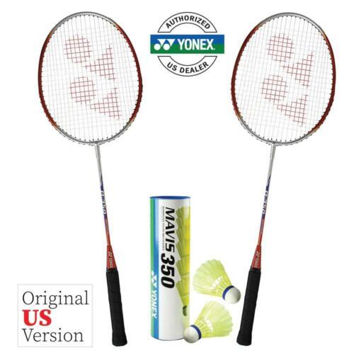 2 Rackets + 1 Tube of Shuttlecocks Yonex B350 Badminton Combo Set