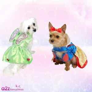 Image is loading DOG-CAT-DISNEY-PRINCESS-SNOW-WHITE-TINKERBELL-COSTUME- & DOG CAT DISNEY PRINCESS SNOW WHITE TINKERBELL COSTUME NOVELTY ...