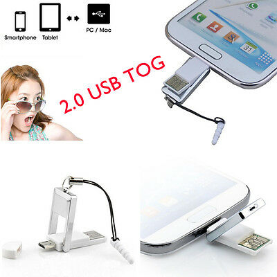 Mini 2in1 Micro USB 2.0 OTG Adapter + Micro SD TF Card Reader For smart Phone PC