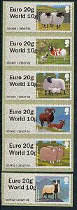 "WINCOR TYPE II SHEEP DUAL VALUE SET OF 6 ""EURO 20g/WORLD 10g"" POST & GO"