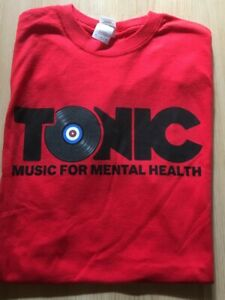 Tonic Music for Mental Health XXL T-Shirt Top Clothing BN Red Charity