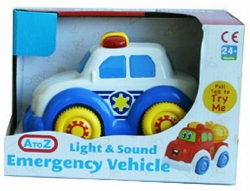 Police Car Emergency Try Me Vehicle With Lights /& Sound Kids Play 2+Years