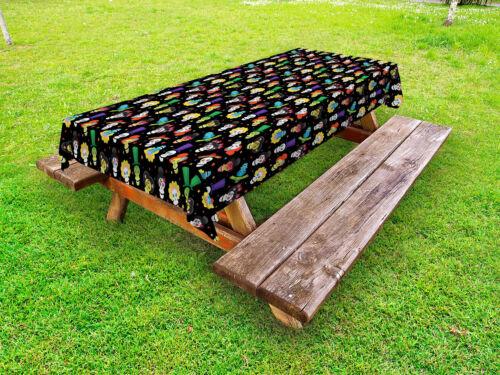 Zuckerschädel Outdoor-Tischdecke Lustige Schädel Sterne