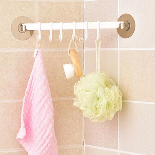 Bathroom Kitchen Nail-Free Towel Self Adhesive Stick Wall Hook Hanger D