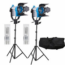 FSKIT150A 2 x 150W Fresnel wolfraam Video continue verlichting 300W SPOT LIGHT P