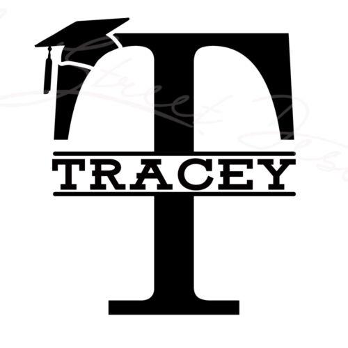 Senior Graduation Initial Monogram Graduate College High School Vinyl Decal 1214