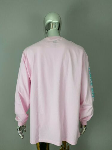 NEW HUF WORLDWIDE Pink Graphic Long Sleeve Shirt SIZE 2XL