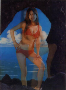 Details about Nude Asian Bikini Girl•on the Beach•Vintage 3D Lenticular  POSTCARD 4x6•Toppan