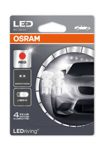 Osram-LED-Rojo-W5W-5W-Bombillas-De-Luz-Lateral-501-0-5W-2880R-02B-LED-Retrofit-Cuna
