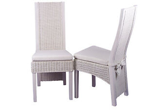 2-Rattanstuehle-Esszimmerstuehle-Rattan-Stuhl-Sessel-Stuehle-Set-Farbe-weiss
