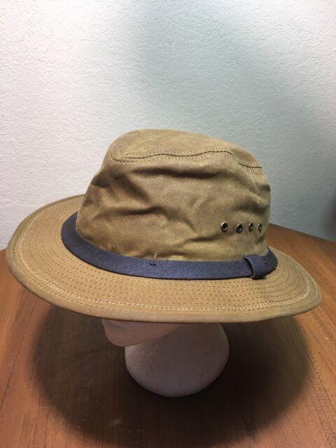 02a4fbddc NWOT Filson INSULATED Tan Tin Cloth Packer Hat Ear Flaps Mens XXL USA Made