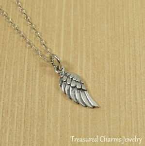 925 Sterling Silver Wing Memorial Faith Charm Angels Religious Angel Pendant