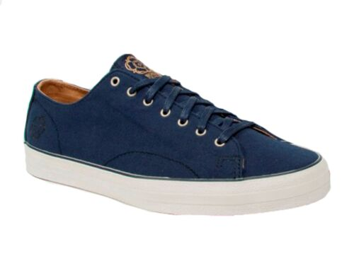 N101 Deakins Hooper Navy Canvas Mens Trainers All Sizes