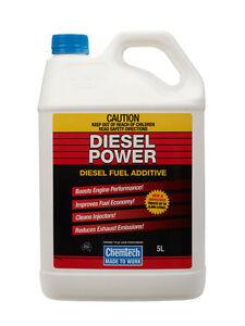 Details about Chemtech Diesel Power DIESEL Fuel Additive Improve Economy  Reduce Noise 5 Liter