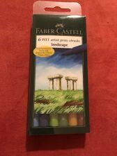 Faber-Castell India ink PITT artist pen Brush box of 6  'landscape' (#167105)