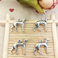 Jewelry making,DIY 6pcs dogs charm Alloy necklace earrings Pendants beads#