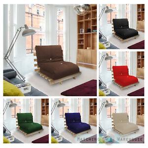 lit simple 1 places futon cadre en bois matelas de luxe en choix de couleurs ebay. Black Bedroom Furniture Sets. Home Design Ideas