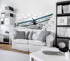 Appris Nappes Papiers Peints Photos Papier Peint Papier Peint Avion 3d Brique Meuer Art 3fx10407vep-afficher Le Titre D'origine