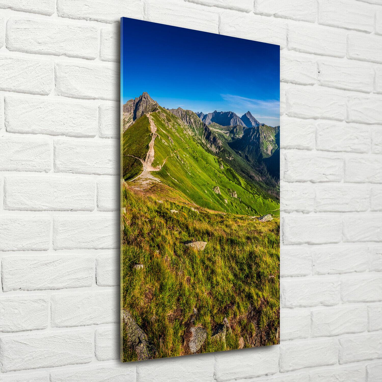 Wand-Bild Kunstdruck aus Acryl-Glas Hochformat 70x140 Hohe Tatra