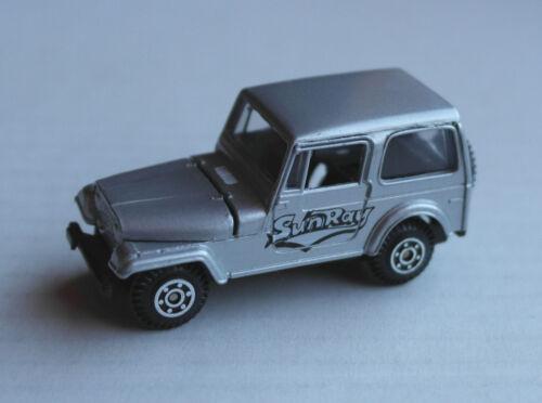 Spielzeugautos Welly Jeep silbermetallic SunRay Geländewagen Allrad 4x4 Klassiker Auto Off-Road